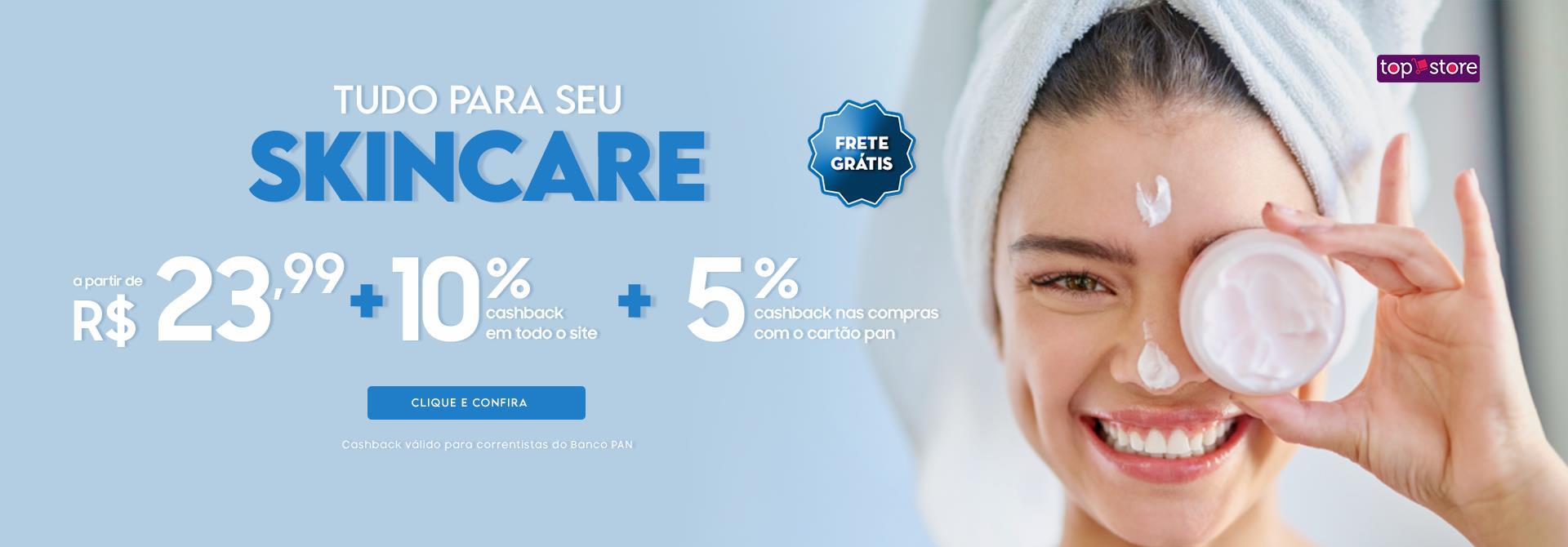 Skincare a partir de R$23,99