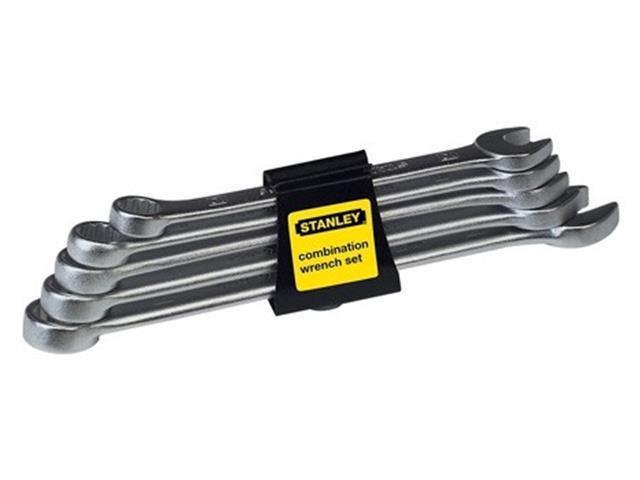 Jogo de 5 Chaves Combinadas em Milímetros Stanley 10 a 14mm