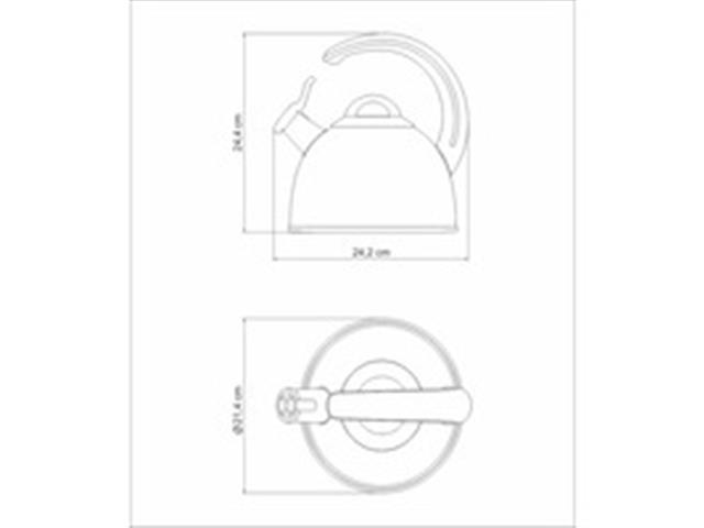 Chaleira com Fundo Triplo Tramontina Aço Inox Design Collection 2,8 L - 1