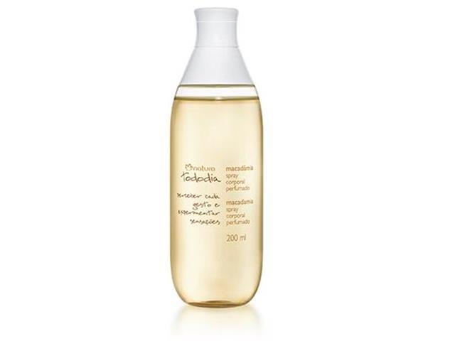 Macadâmia Desodorante Colônia Spray Corporal Perfumado 200ml