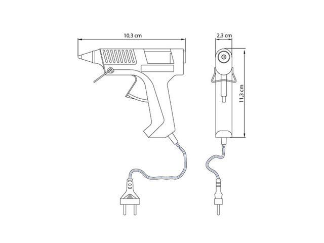 Pistola Elétrica de Cola Quente Tramontina 10-12W - 1