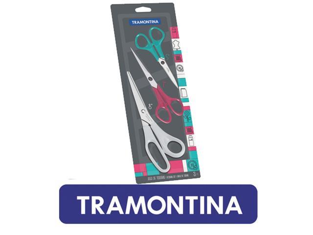 Jogo de Tesouras Tramontina Inox 3 peças