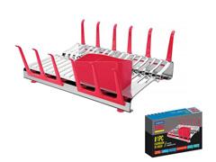 Escorredor de Louça Tramontina Plurale Inox/Vermelho