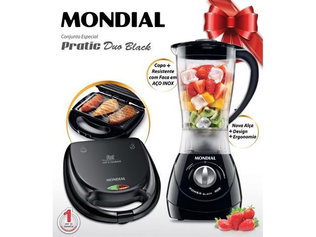 Conjunto Especial Mondial Pratic Duo Black 110V