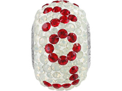 Becharmed Pavé decorado com cristais da Swarovski® Love vermelho