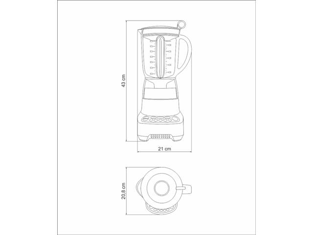 Liquidificador Tramontina by Breville Smart Gourmet 1,5 L Inox 110V - 5