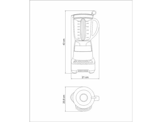 Liquidificador Tramontina by Breville Smart Gourmet 1,5 L Inox 220V - 5