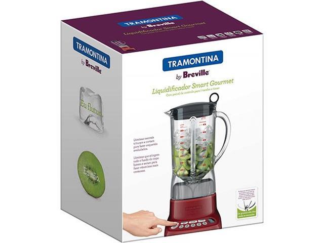 Liquidificador Tramontina by Breville Smart Gourmet Vermelho 1,5L 220V - 3