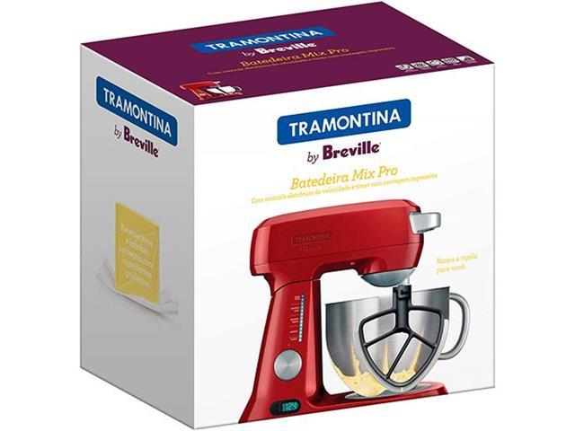 Batedeira Planetária Tramontina Breville Mix Pro Vermelho - 5