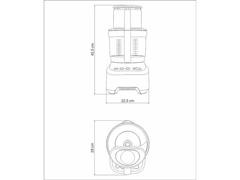 Multiprocessador de Alimentos Tramontina by Breville Alumínio 220V - 6
