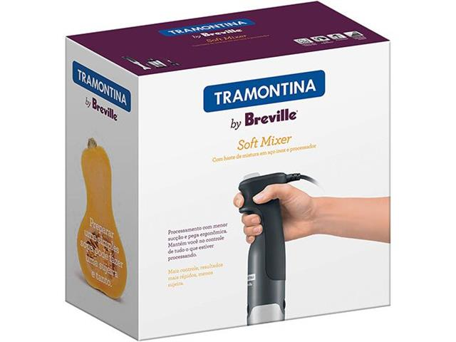 Mixer Tramontina Soft by Breville Soft Aço Inox Prata e Preto 220V - 6