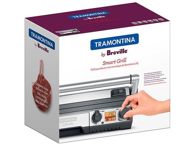 Grill Elétrico Tramontina by Breville Smart Aço Inox 220V - 5