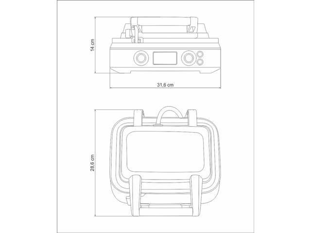 Máquina de Waffle Tramontina Smart by Breville Aço Inox 110V - 6