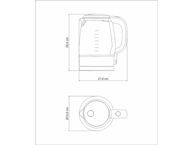 Chaleira Elétrica Tramontina Transparenza 1,7 L - 4