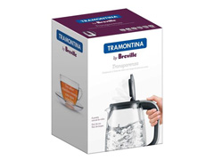 Chaleira Elétrica Tramontina By Breville Transparenza 1,7 L 110V - 2