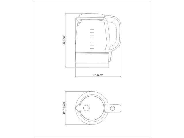 Chaleira Elétrica Tramontina Transparenza 1,7 L 220V - 4