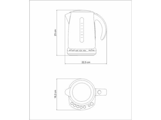 Chaleira Elétrica Tramontina By Breville Smart Aço Inox 1,7 Litros - 5
