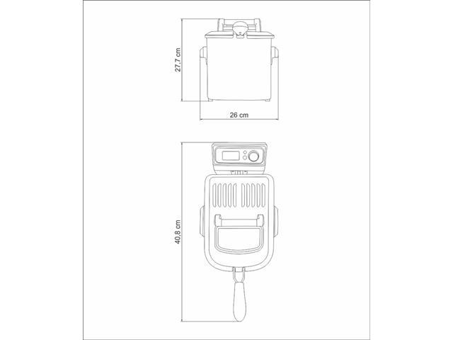 Fritadeira Elétrica Tramontina Smart Aço Inox 220V - 6