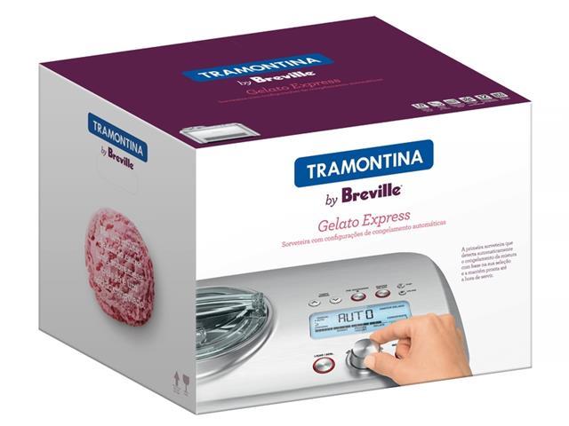 Sorveteira Tramontina Breville Gelato Express Aço Inox 110V - 6