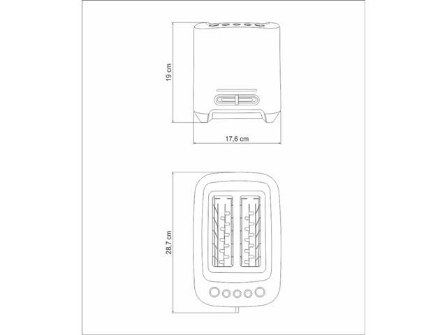 Torradeira Elétrica Tramontina Smart Aço Inox - 6