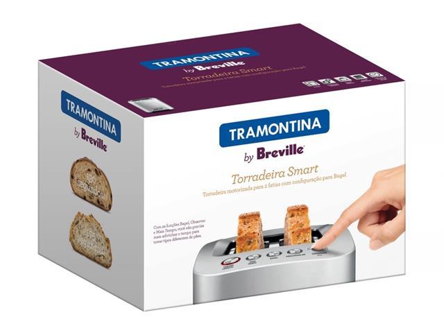 Torradeira Elétrica Tramontina Breville Smart Aço Inox 220V - 5