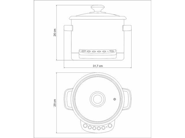 Panela Elétrica Tramotina by Breville Multi Cook 220V - 5