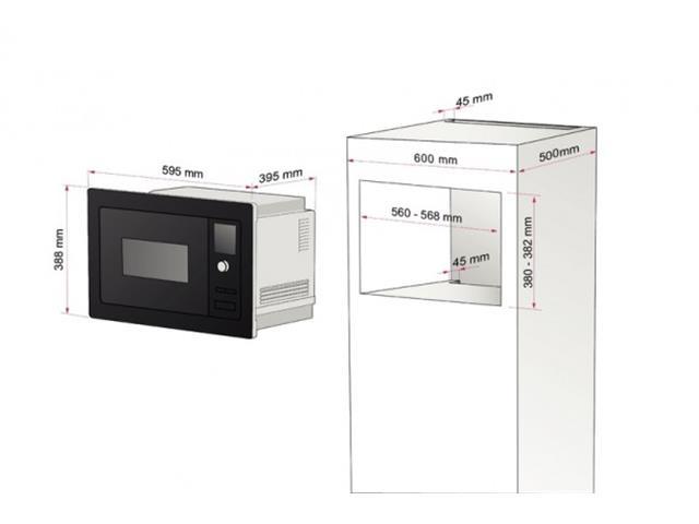 Microondas Embutido Tramontina Glass 60 25L 220V - 1
