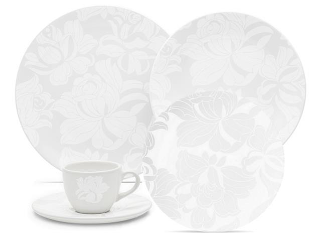 Aparelho de Jantar e Chá Oxford Coup Blanc 30 peças