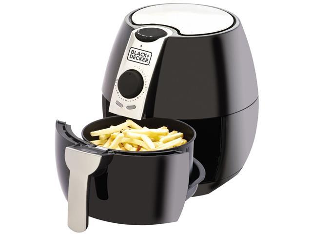 Fritadeira Elétrica Sem Óleo Black&Decker Air Fryer 3,2L Preta e Prata