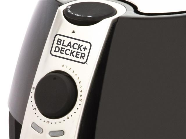 Fritadeira Elétrica Sem Óleo Black&Decker Air Fryer 3,2L Preta e Prata - 1
