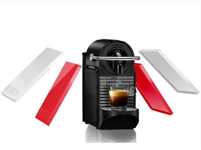 Cafeteira Nespresso Automática Pixie Clips Branca e Coral Neon