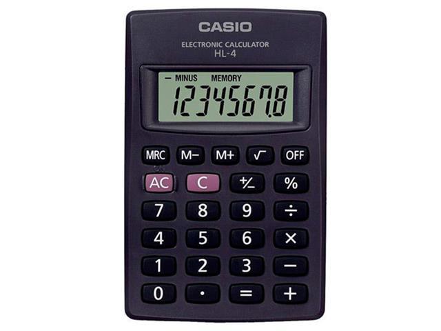 Calculadora Básica Ultraportátil 8 Dígitos HL-4A - Casio