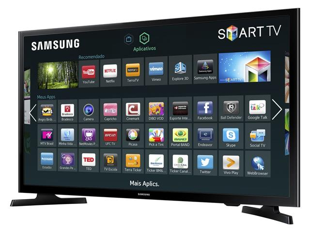 "Smart TV LED 43"" Full HD Samsung Conv. TV Digital 2 HDMI 1 USB WiFi - 1"