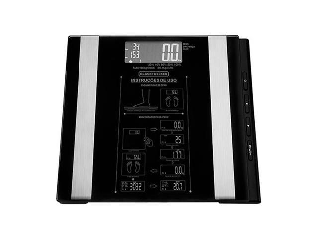Balança Digital Vidro Banheiro Black&Decker Funções Especiais 180Kg