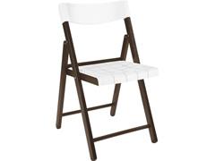 Cadeira Tramontina Potenza Madeira Jatoba Tabaco com Branco - 0