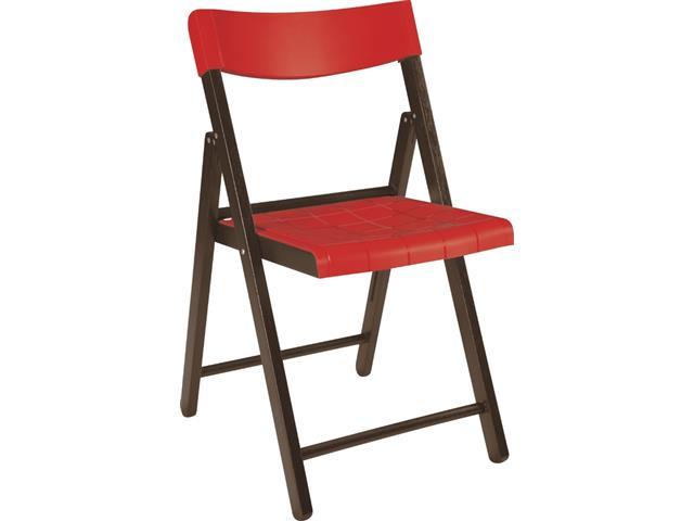 Cadeira Tramontina Potenza Madeira Jatoba Tabaco com Vermelho