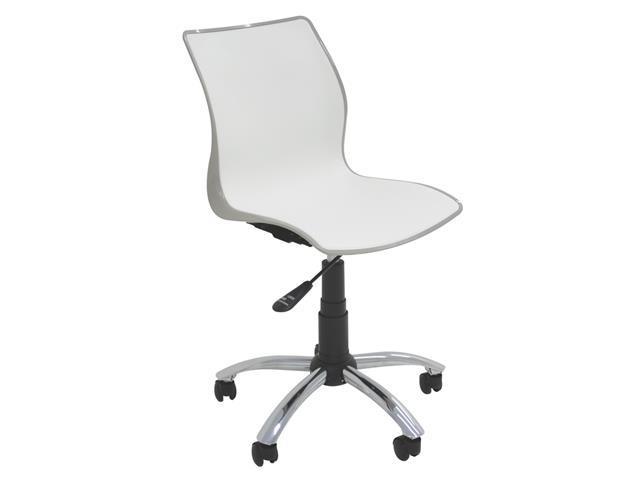 Cadeira Tramontina Rodizio Maja Camurça/Branca