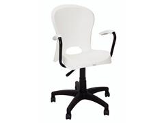 Cadeira com Braço e Rodizio Tramontina Jolie Branca - 0
