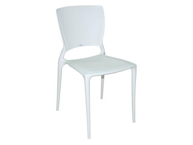 Cadeira Tramontina Sofia Encosto Fechado Branca