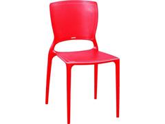 Cadeira Tramontina Sofia Encosto Fechado Vermelha