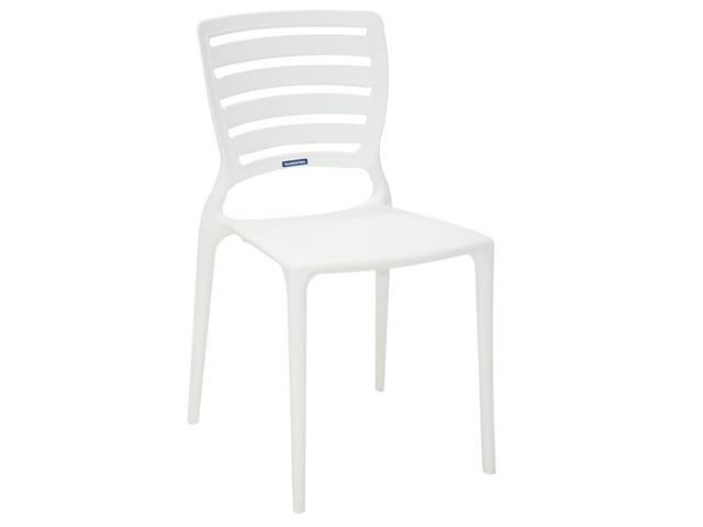 Cadeira Tramontina Sofia Encosto Vazado Horizontal Branca