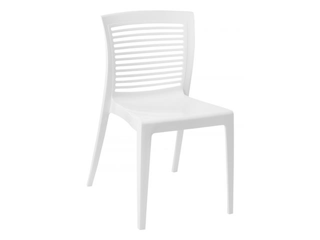 Cadeira Tramontina Victoria Encosto Vazado Horizontal Branca