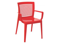 Cadeira/ Poltrona com Braço Tramontina Victoria Vermelha