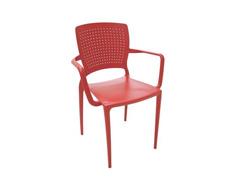 Cadeira/ Poltrona com Braço Tramontina Safira Vermelha