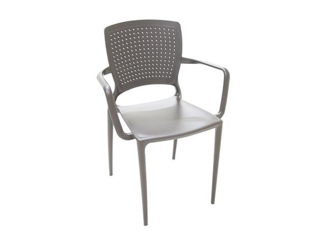 Cadeira/ Poltrona com Braço Tramontina Safira Marrom