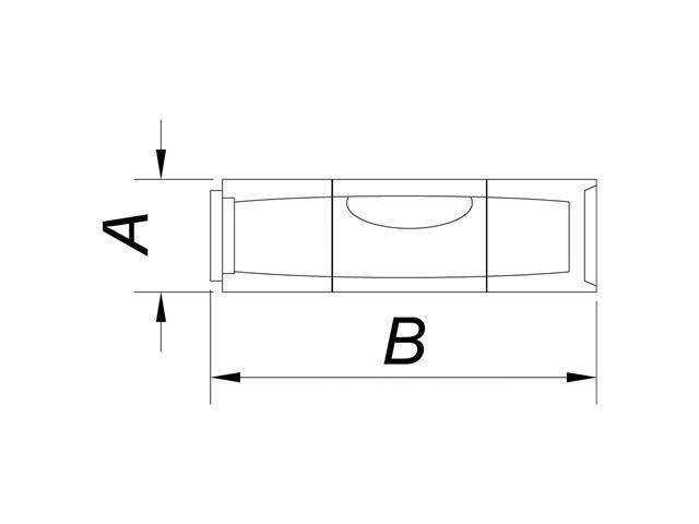 Ampola / Bolha para Nível Tramontina 9,5 x 35 mm - 1