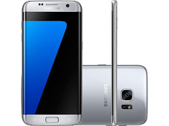 "Smartphone Samsung Galaxy S7 Edge 4G Tela 5.5"" 32GB Android 6.0 Prata"