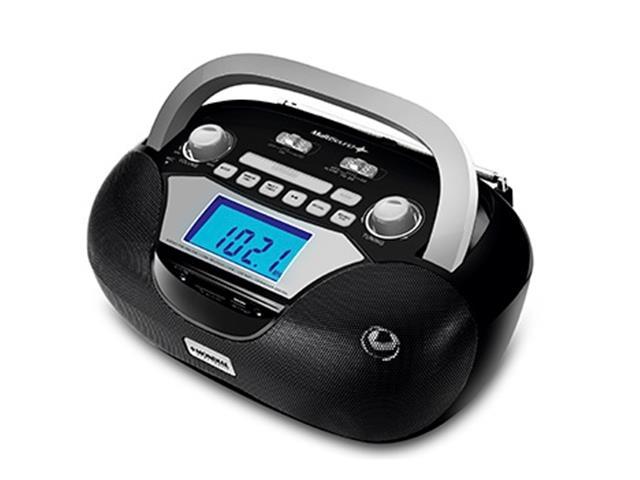 Rádio Portátil Mondial BX-12 Multisound AM/FM USB SD e Auxiliar Preto