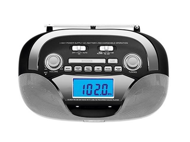 Rádio Portátil Mondial BX-12 Multisound AM/FM USB SD e Auxiliar Preto - 1
