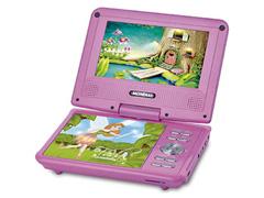 DVD Portatil Mondial Fadas Encantadas com Tela LCD Giratoria 7